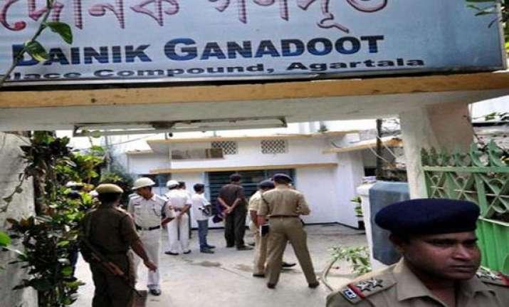 three newspaper staff stabbed to death in tripura