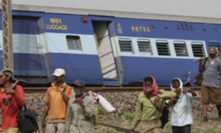 three bogies of kalka mail derail no one injured