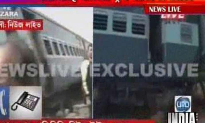 three killed as train rams into earth cutting machine