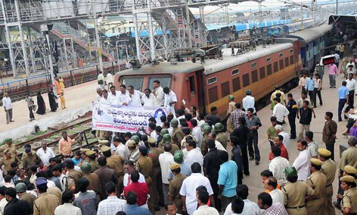 train services hit in t gana as rail roko enters day two