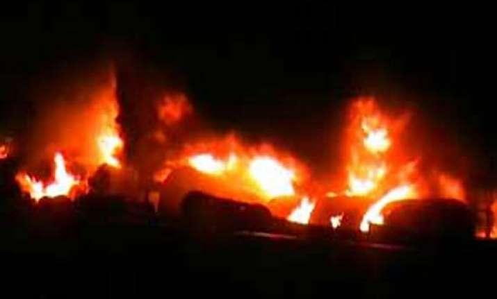 train carrying fuel catches fire in uttar pradesh