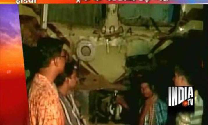 train rams into truck in west bengal truck driver killed