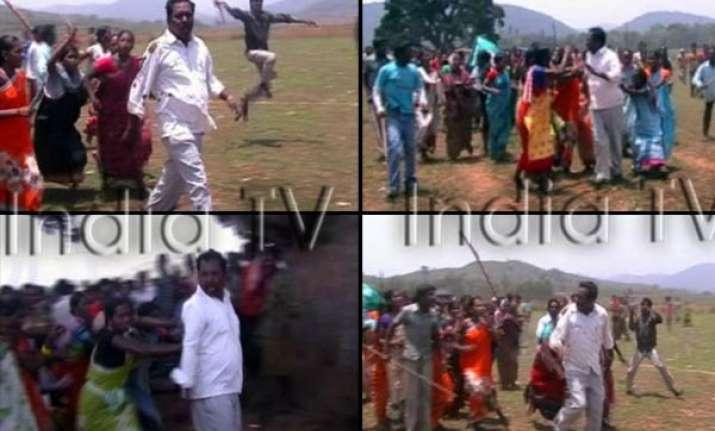 tribal women bash up tdp mla in ap