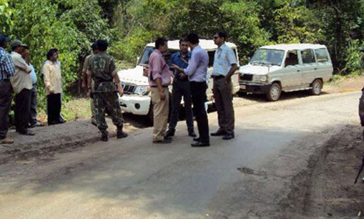 two cops injured in naxal attack