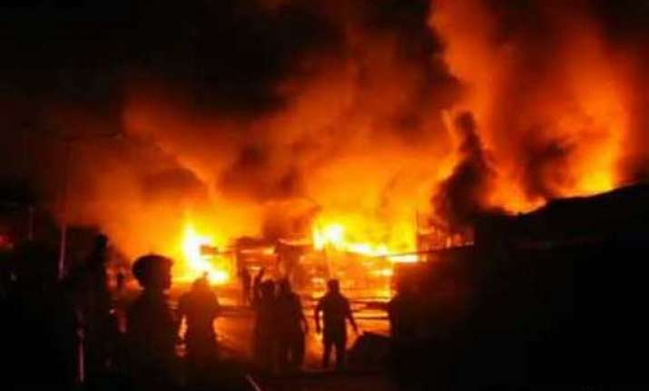 two fire incidents in delhi shops huts gutted