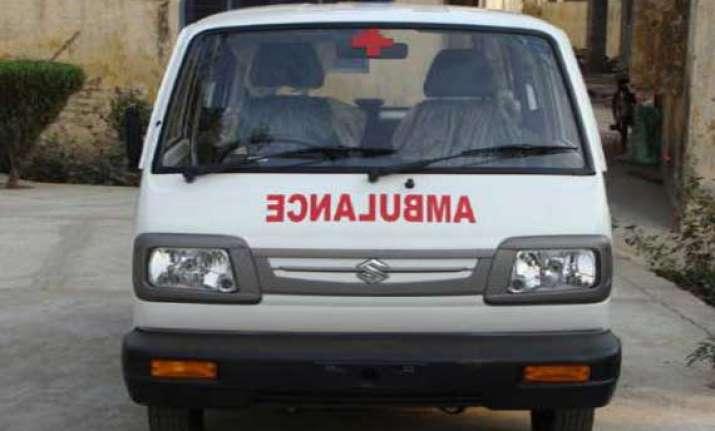 two women dead as fire engulfs ambulance after hitting tree