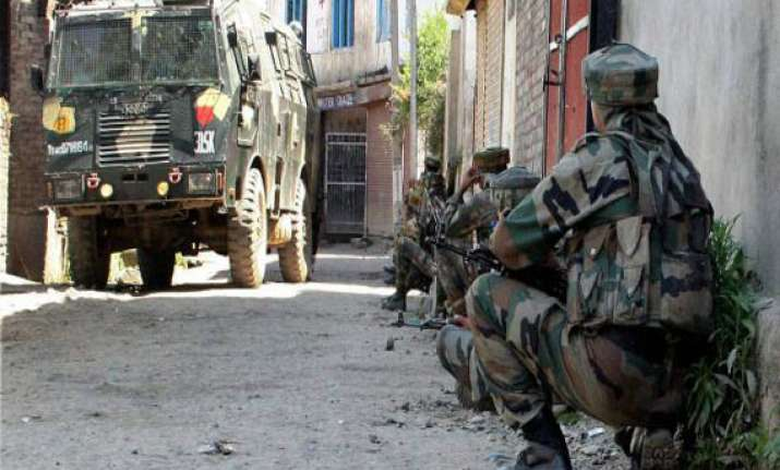 two army personnel injured in firing by let militants in j k