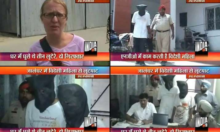 two held in ludhiana for robbing foreign national