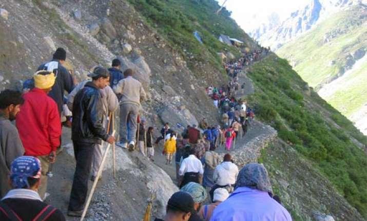 two lakh pilgrims registered for amarnath yatra