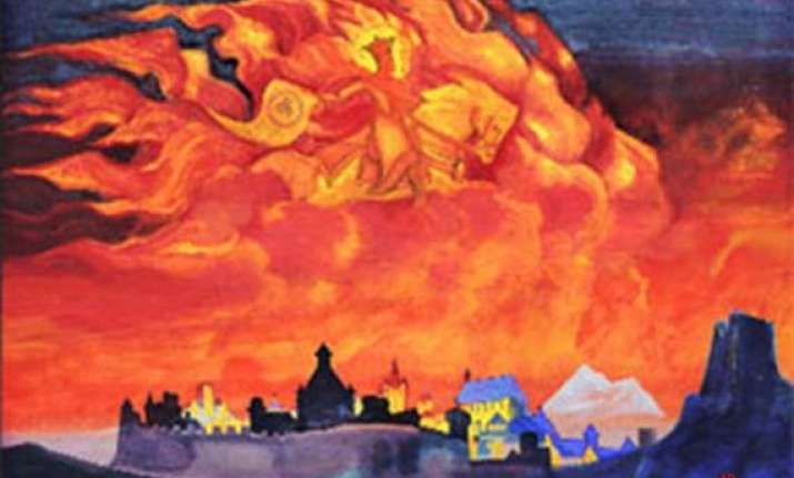 two roerich paintings disappear from delhi appear at london
