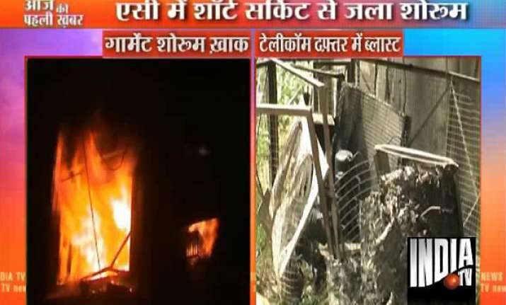 two airconditioners catch fire in meerut 2 injured