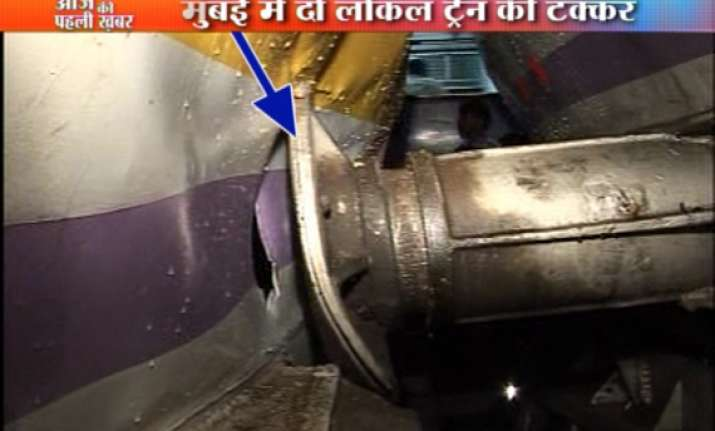 two suburban trains collide in mumbai 10 injured