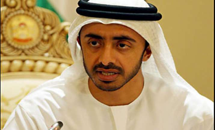 uae foreign minister calls up khurshid invites him to uae