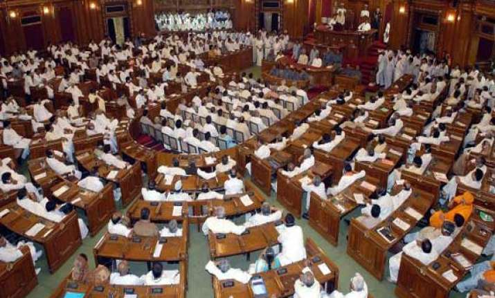 up vidhan parishad adjourned briefly over law and order