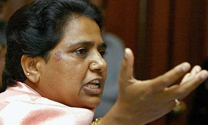up division mayawati asks congress bjp to clarify stand
