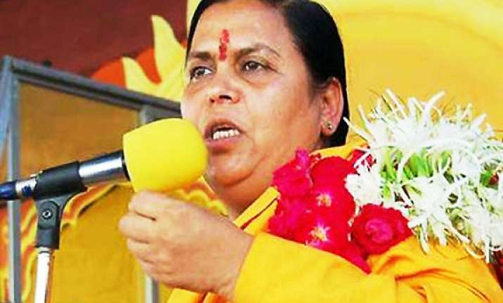 uma bharti opposes 9 pc reservation move for backward