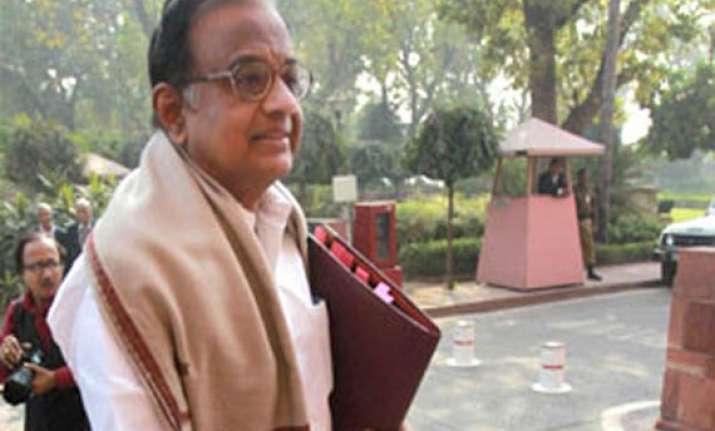 uproar over chidambaram in rajya sabha