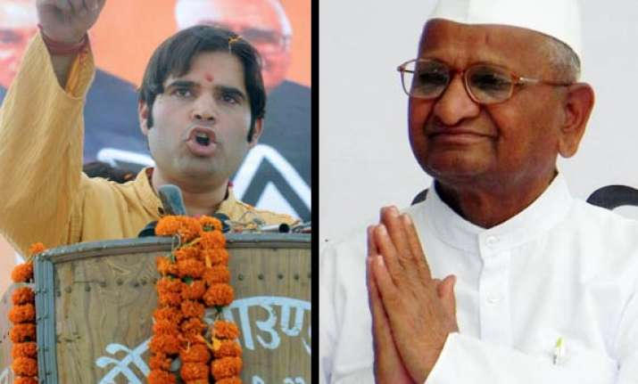 use my premises for movement varun gandhi to hazare