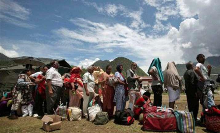 uttarakhand harsil evacuated 1 400 people still stranded in