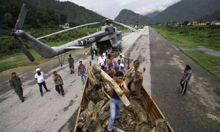 uttarakhand portion of itbp camp in gauchar cleared for