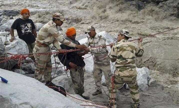 uttarakhand helicopters suspend sorties as landslides rains
