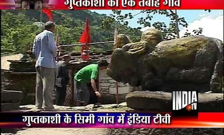 uttarakhand huge cracks develop in houses temple near