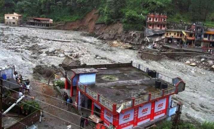 uttarakhand scores of houses washed away in cloudburst flood