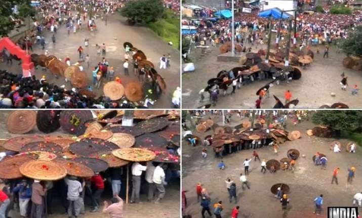 uttarakhand villagers indulge in stoning ritual on