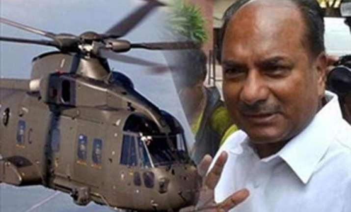vvip chopper scam italian court summons antony as witness