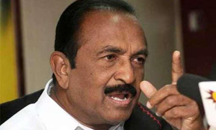 vaiko opposes lankan president s presence at modi swearing