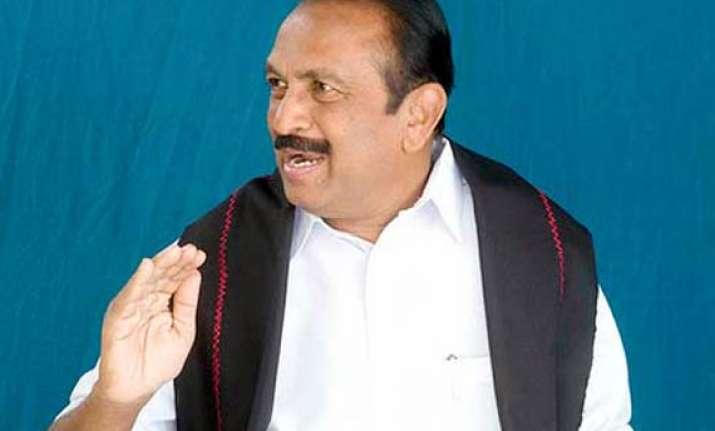 vaiko calls for economic blockade of kerala