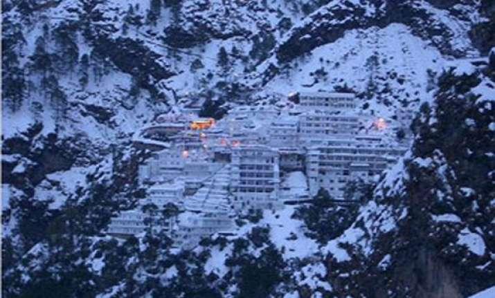 vaishnodevi gets seasons s first snowfall