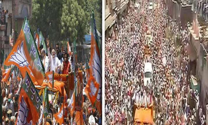 varanasi witnesses biggest road show in world s largest