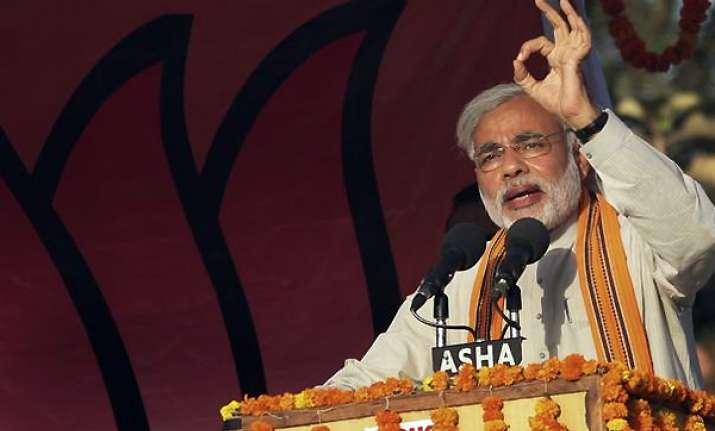 vote bank politics is india s misfortune says narendra modi