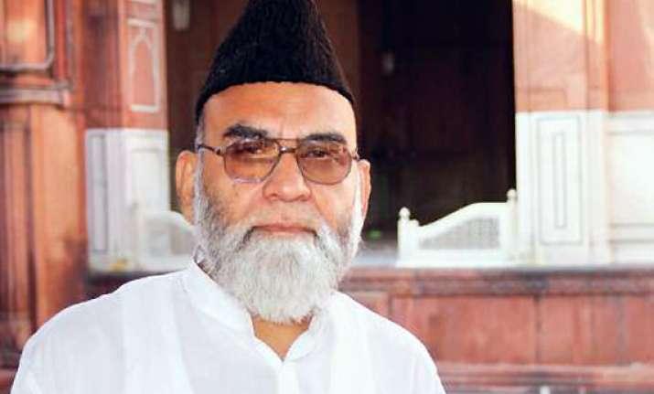 vote for mulayam imam bukhari tells muslims