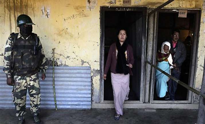 82 pc turnout in manipur poll 5 killed by militants
