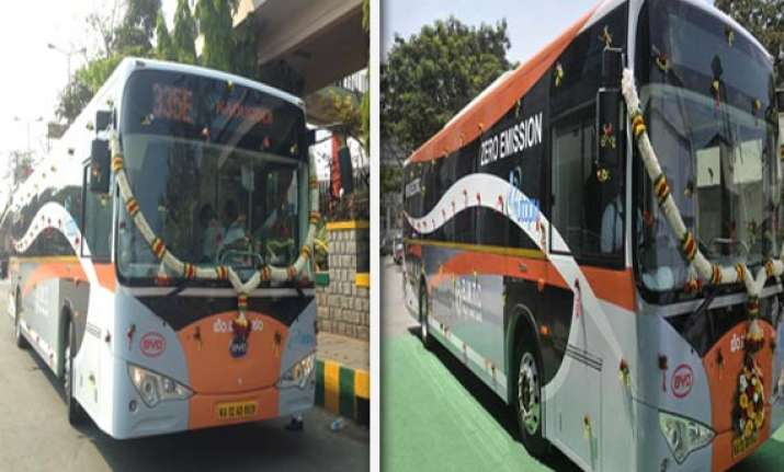watch in pics india s first electric zero emission bus
