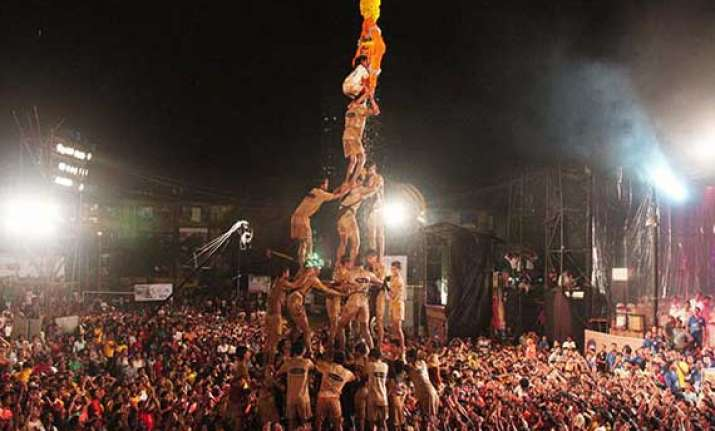 dahi handi celebrations of janmashtami watch pics