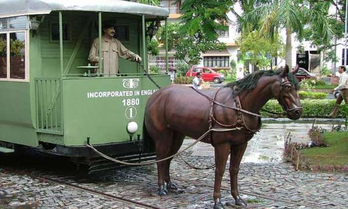 watch in pics 140 year old public transport of india trams