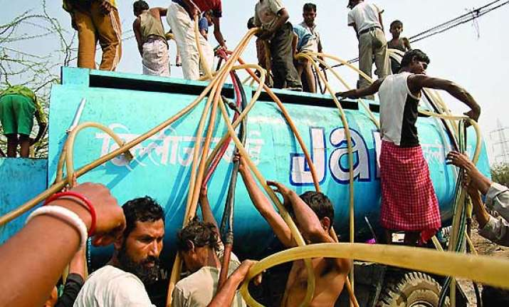 water crisis in south central delhi