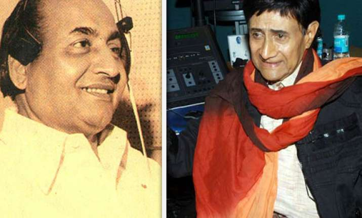 when dev anand lent his voice to a rafi song in his film
