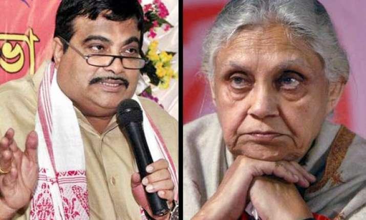 why is cong is saving sheila dikshit asks gadkari