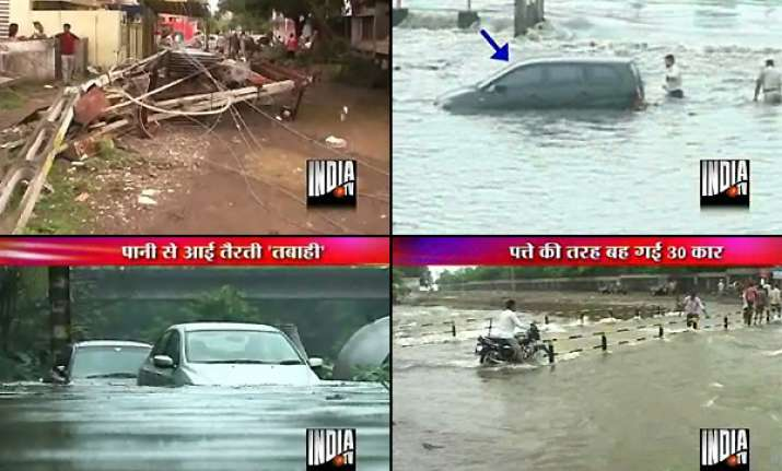 widespread floods in maharashtra 30 cars submerged in pune
