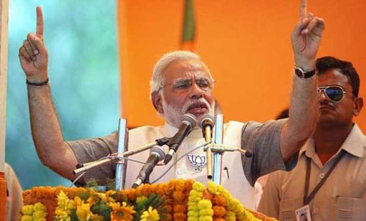 will take everyone along make development mass movement modi