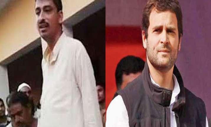 rahul gandhi meets imran masood s wife kids at saharanpur