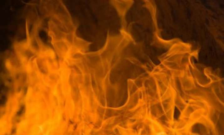woman dies as house catches fire in delhi