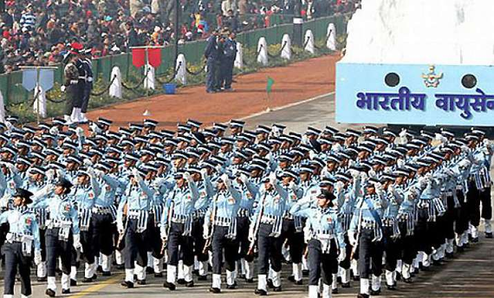 woman leads indian air force contingent for the first time