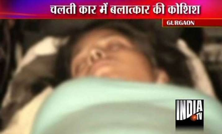 woman thrown out of mercedes car in gurgaon