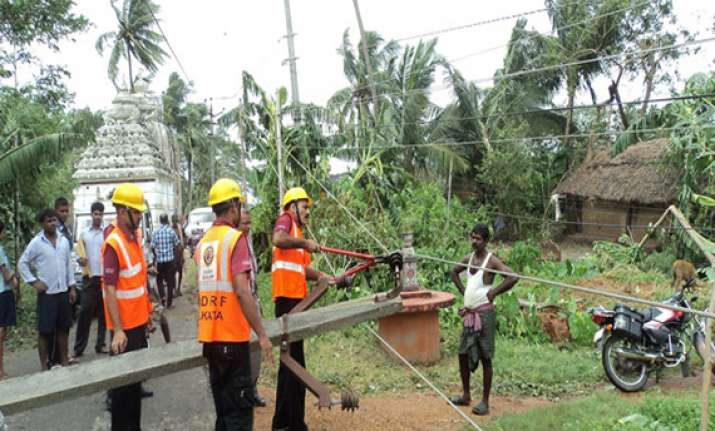 work on to restore power in cyclone hit srikakulam