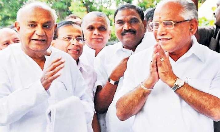 yeddyurappa in control of bjp govt from jail deve gowda